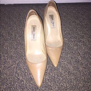 Jimmy Choo nude beige stiletto pumps heels 36 6